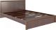 Двуспальная кровать Rinner Беатрис М06 160x200 (орех гепланкт) -