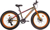 Велосипед Black Aqua Fat 2421 D 24 2018 / GL-216D (15, серый/оранжевый) -