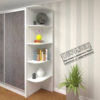 Угловое окончание для шкафа Кортекс-мебель Сенатор КМ32 (венге)
