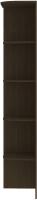 Угловое окончание для шкафа Кортекс-мебель Сенатор КМ32-45 (венге) -