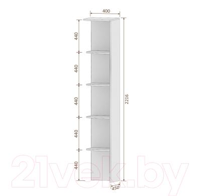 Угловое окончание для шкафа Кортекс-мебель Сенатор КМ32-45 (венге светлый)