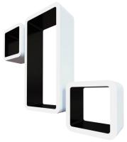 Комплект полок QWERTY Рио / 72005 (белый/чёрный) -