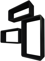 Комплект полок QWERTY Берлин / 72008 (черный) -