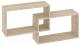 Полка-ячейка Кортекс-мебель КМ 24 (дуб сонома) -