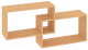 Полка-ячейка Кортекс-мебель КМ 24 (ольха) -