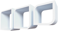 Комплект полок QWERTY Барселона / 72009 (белый) -