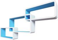 Полка-ячейка QWERTY Нью-Йорк правая / 72012 (белый/голубой) -