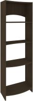 Стеллаж Кортекс-мебель КМ30 волна (венге) -