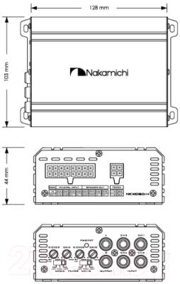 Автомобильный усилитель Nakamichi NKMD60.4