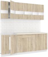 Готовая кухня Кортекс-мебель Корнелия Экстра 2.0м (дуб сонома/королевский опал) -