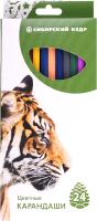 Набор цветных карандашей Сибирский Кедр Звери / СК035/24 -