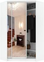 Шкаф Кортекс-мебель Сенатор ШК30 Классика зеркало (белый) -