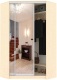 Шкаф Кортекс-мебель Сенатор ШК30 Классика зеркало (венге светлый) -