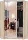 Шкаф Кортекс-мебель Сенатор ШК30 Классика зеркало (дуб сонома) -