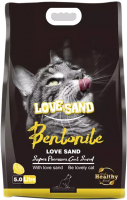 Наполнитель для туалета Love Sand Лимон / LS-005 (5л) -