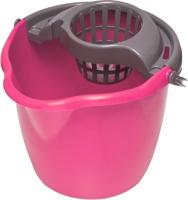 Ведро с отжимом York Круглое 12л (розовый) -