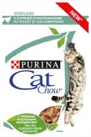 Корм для кошек Cat Chow Sterilized С курицей и баклажанами (85г) -