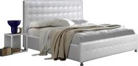 Двуспальная кровать ГрандМанар Джемини ДЖ-016.04 180x200 (Chili White) -