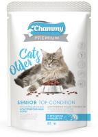 Корм для кошек Chammy Premium Senior Top Condition с кроликом и индейкой (85г) -