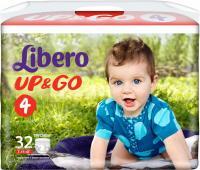 Подгузники-трусики детские Libero Up&Go Maxi 4 (32шт) -