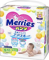 Подгузники-трусики детские Merries S (62шт) -