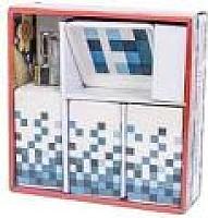 Набор аксессуаров для ванной Podari Mosaic Design 4 (синий) -