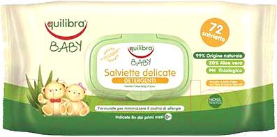 Влажные салфетки детские Equilibra Baby нежные для детей (72шт)