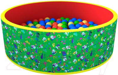 Игровой сухой бассейн Romana Веселая поляна ДМФ-МК-02.51.02 (100 шариков, зеленый/красный)