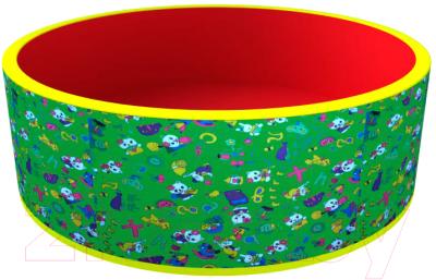 Игровой сухой бассейн Romana Веселая поляна ДМФ-МК-02.51.03 (без шариков, зеленый/красный)