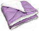 Одеяло Angellini Дуэт 8с014дб (140x205, фиолетовый/белый) -