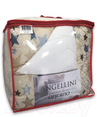 Одеяло Angellini Дуэт 8с014дб (140x205, звездный/белый)
