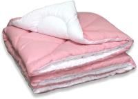 Одеяло Angellini Дуэт 8с017дб (172x205, розовый/белый) -