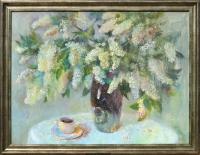Авторская картина ХO-Gallery Запах кофе и черемухи / ОК-2020-005 -
