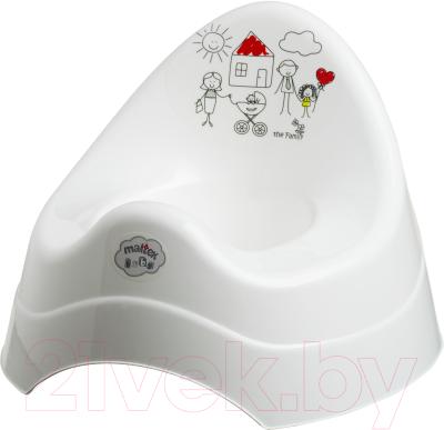 Детский горшок Maltex Семья / 5801 (белый)