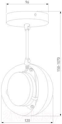 Потолочный светильник Elektrostandard DLN050 GX53 (белый/золото)