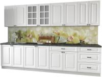 Готовая кухня Интерлиния Мила Деко 3.0 Б (белый/кастилло темный) -