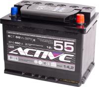 Автомобильный аккумулятор Active Frost 6СТ-55 Евро / AF55ЗR (55 А/ч) -
