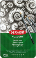 Набор простых карандашей Derwent Academy Sketching / 2301946 (12шт) -