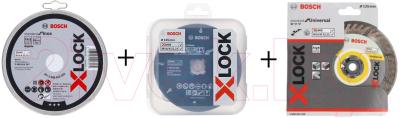 Набор отрезных, пильных дисков Bosch X-lock 2.608.619.374 / 2.608.615.166 / 2.608.619.267