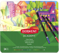 Набор цветных карандашей Derwent Academy Colour / 2301938 (24шт) -
