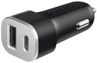 Зарядное устройство автомобильное Deppa Power Delivery USB Type-C + USB A 18W / 11293 (черный) -