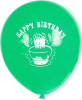 Набор воздушных шаров KDI С Днем Рождения! / BCG-12-100 (зеленый, 100шт) -