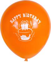 Набор воздушных шаров KDI С Днем Рождения! / ВСО-12-100 (оранжевый, 100шт) -