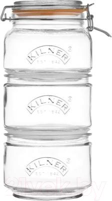 Набор емкостей для хранения Kilner Clip Top K-0025.897V