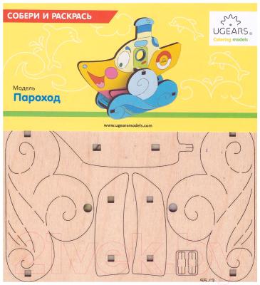 Развивающая игрушка Ugears Пароход 20003