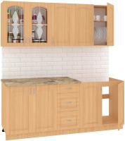 Готовая кухня Кортекс-мебель Корнелия Ретро 2.0м (ольха/марсель) -