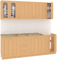 Готовая кухня Кортекс-мебель Корнелия Ретро 2.2м (ольха/мадрид) -