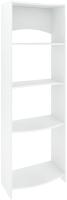Стеллаж Кортекс-мебель КМ30 волна (белый) -