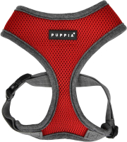 Шлея-жилетка для животных Puppia Soft II / PATD-HA1770-WN-M (красный/серый) -