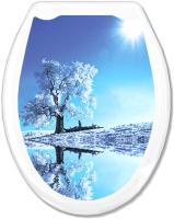 Сиденье для унитаза Europlast Белое дерево 104-406-00 (жесткое) -